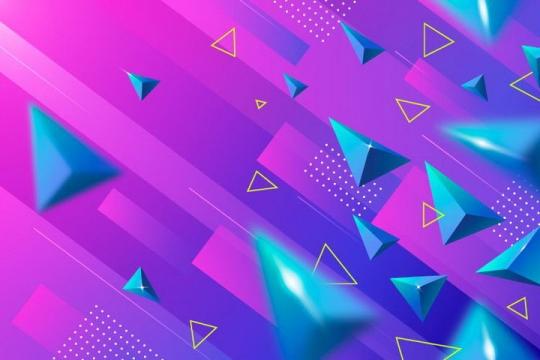 创意立体金字塔形电商背景图片