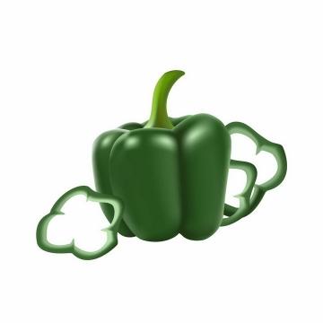 绿色辣椒灯笼椒切丝美味蔬菜png图片免抠矢量素材