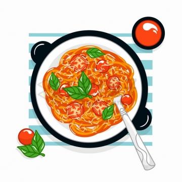 一碗西红柿鸡蛋面美味美食彩绘插画png图片素材