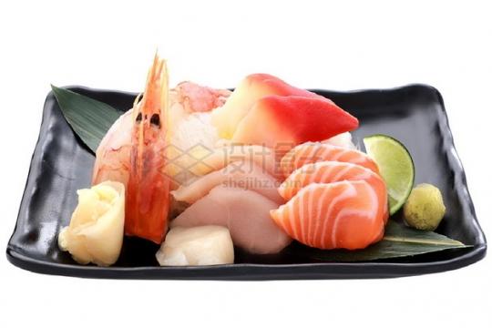 熟虾三文鱼刺身日式料理png图片素材