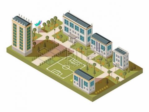 3D风格学校建筑621440png矢量图片素材