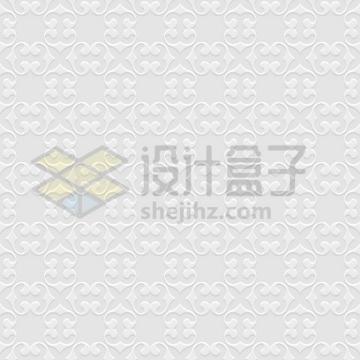 3D复古花朵图案无缝花纹壁纸背景图png图片免抠矢量素材