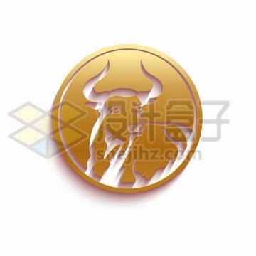 2021年牛年金色牛头图案659214png矢量图片素材