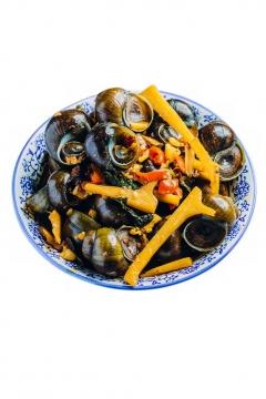 一盘炒田螺美味美食802998png图片素材