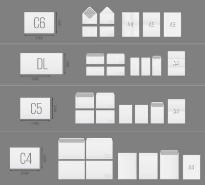 A4纸等各种纸张大小对比图打印纸尺寸图片免抠素材