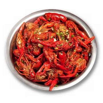 一大盘麻辣小龙虾美味河鲜美食图片免抠素材