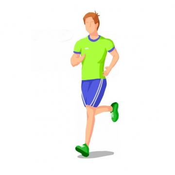跑步的男人扁平插画770844png图片素材