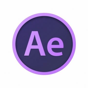 adobe设计软件的AE图标logo圆形标志884664图片免抠素材