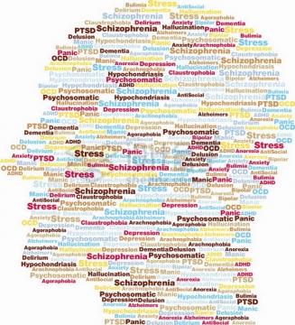 彩色英文字母单词组成的人体头部图案png图片素材