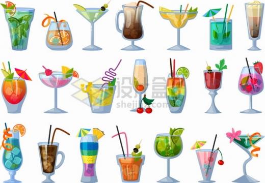 各种鸡尾酒美味饮料png图片素材