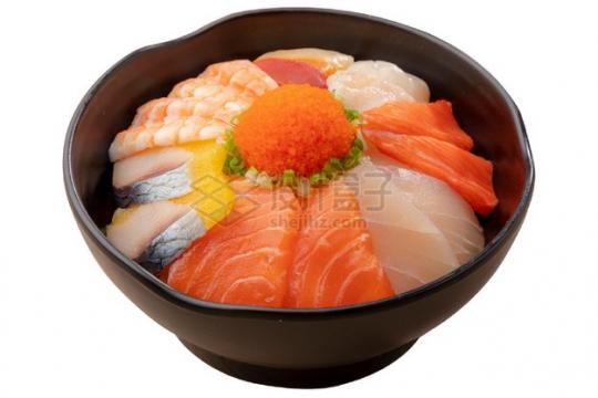 各种三文鱼刺身海鲜饭日式料理png图片素材