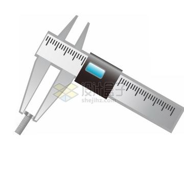 卡通风格游标卡尺测量工具png图片免抠素材