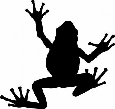 一只青蛙剪影图片png免抠素材