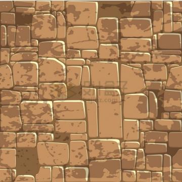 褐色的卡通石头石块背景纹理图png图片素材