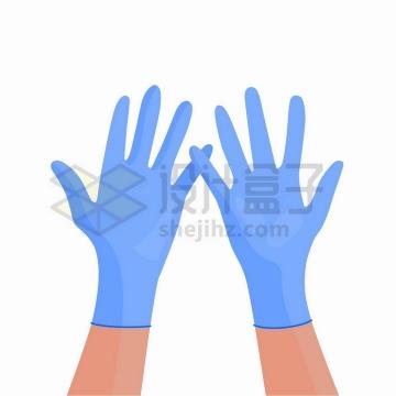 卡通风格橡胶医用防护手套png图片免抠矢量素材