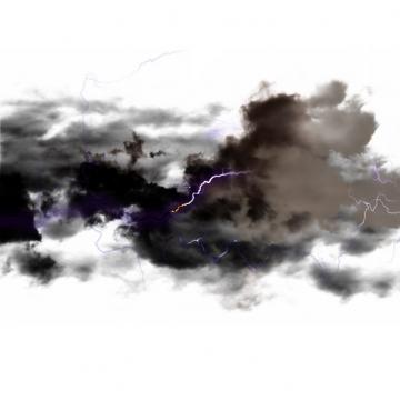 乌云里的闪电雷鸣电闪效果826806png图片素材