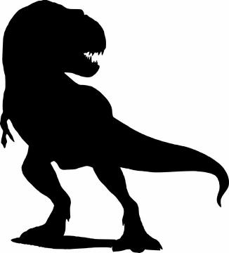 一只恐龙霸王龙剪影图片png免抠素材