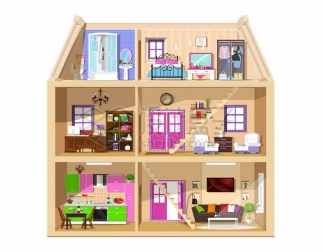 女孩玩的房子模型597337png矢量图片素材