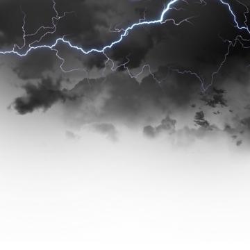 乌云里的闪电雷鸣电闪效果189224png图片素材