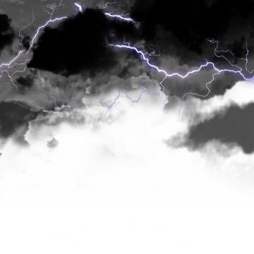 乌云里的闪电雷鸣电闪效果617421png图片素材