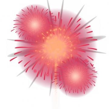 绽开的红色烟花礼花效果768392png图片素材
