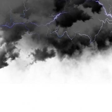 乌云里的闪电雷鸣电闪效果489816png图片素材