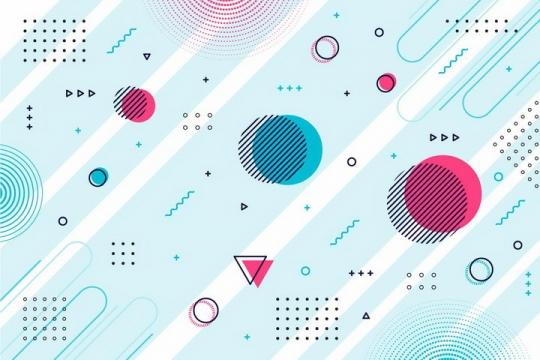 孟菲斯风格线条图形装饰背景png图片免抠eps矢量素材