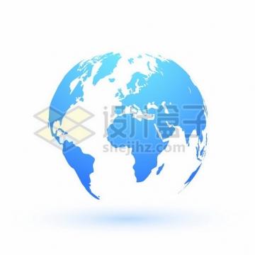 蓝色渐变色的地球模型世界地图811070png矢量图片素材