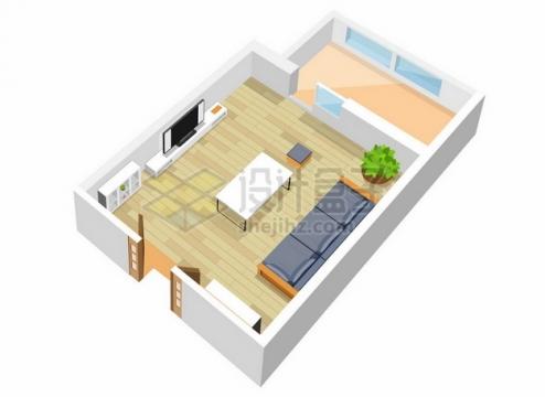 3D风格室内客厅装修效果图片大全375526png矢量图片素材