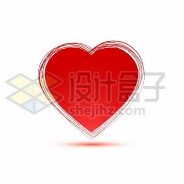 涂鸦心形图案红心装饰872003png矢量图片素材