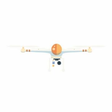 扁平化风格四轴无人机航拍小飞机正面图png图片免抠矢量素材