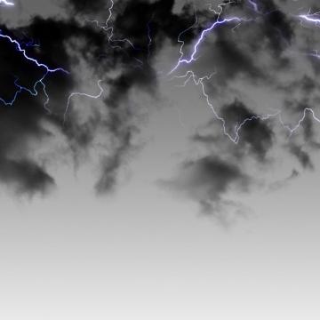 乌云里的闪电雷鸣电闪效果837591png图片素材