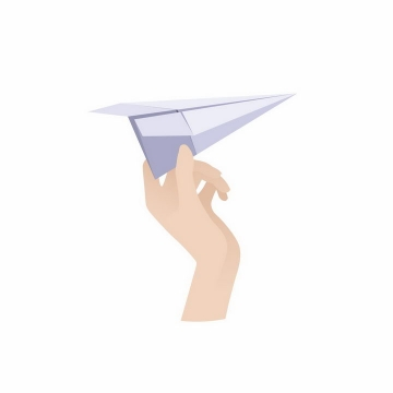 扁平化风格扔滑翔纸飞机png图片免抠矢量素材