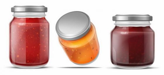玻璃罐中的果酱辣酱各种酱汁png图片免抠矢量素材