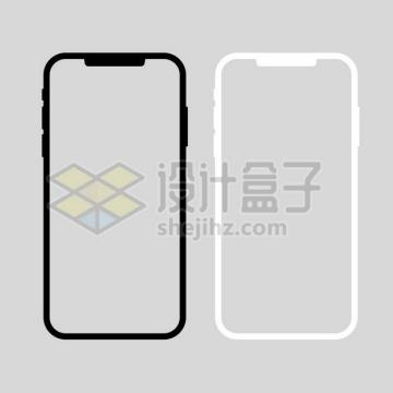 黑色白色苹果iPhone 11 Pro手机边框png图片素材
