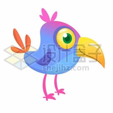 两条细长腿的卡通小鸟png图片免抠矢量素材