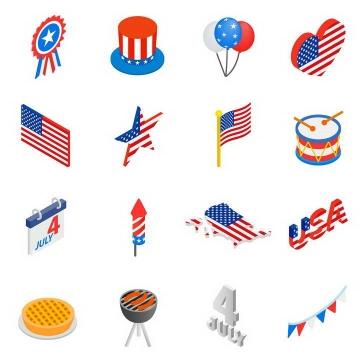 16款美国国旗星条旗图案装饰素材