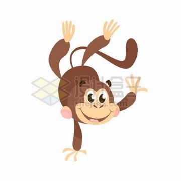 倒立的卡通小猴子211597png矢量图片素材