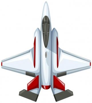 卡通风格的战斗机飞机俯视图图片免抠素材