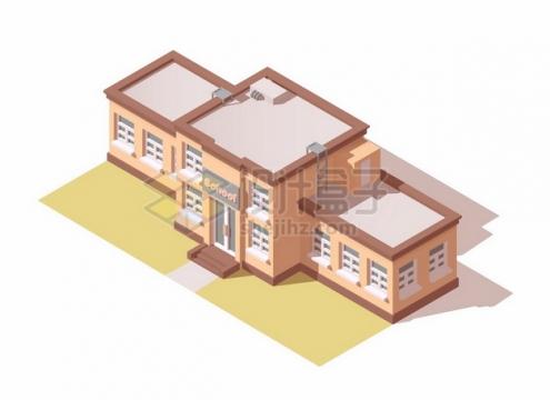 3D风格学校教学大楼建筑889850png矢量图片素材