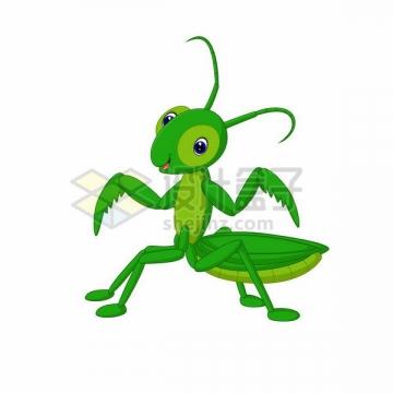 可爱的卡通螳螂png图片免抠矢量素材