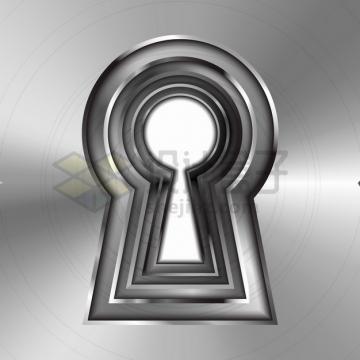 透明金属门锁孔png图片素材
