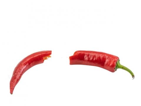 断开的红辣椒png图片素材