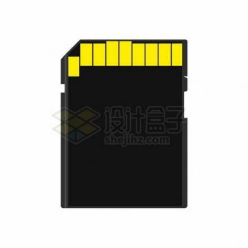 逼真的SD卡存储卡背面png图片免抠矢量素材