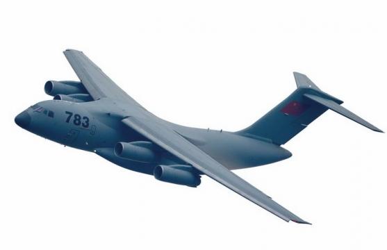 中国空军运20军用大型运输机透明png免抠图片