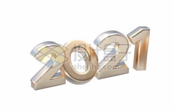 银色金属色3D立体2021艺术字体878605png矢量图片素材