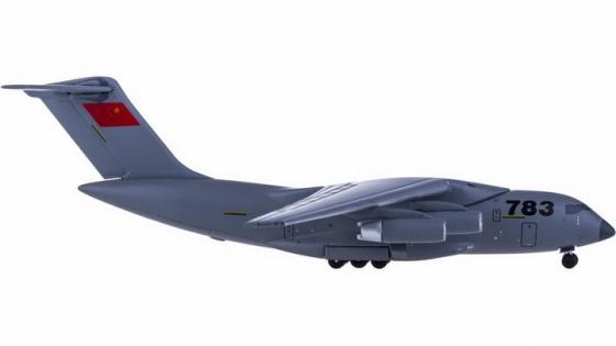 运20军用大型运输机侧视图透明png高清免抠图片