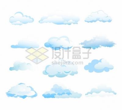 12款淡蓝色的云朵白云651301png矢量图片素材