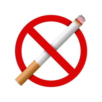 禁止吸烟禁止抽烟标志图片免抠矢量图