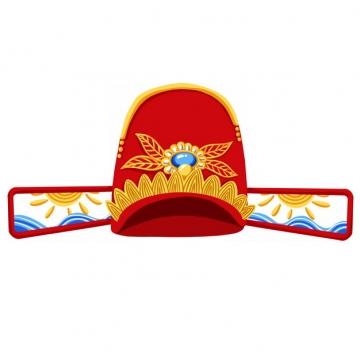 红色古代官帽明朝官员戴的帽子戏曲帽子乌纱帽png图片素材